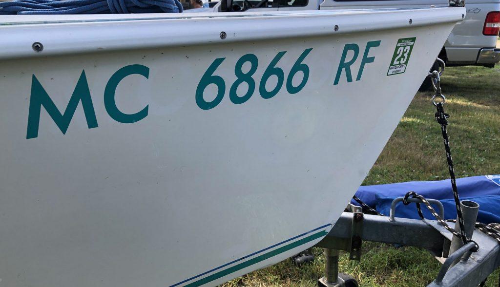 Michigan MC Numbers Michigan Boat Registration Number Stickers