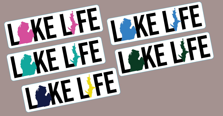 Lake Life Michigan Stickers
