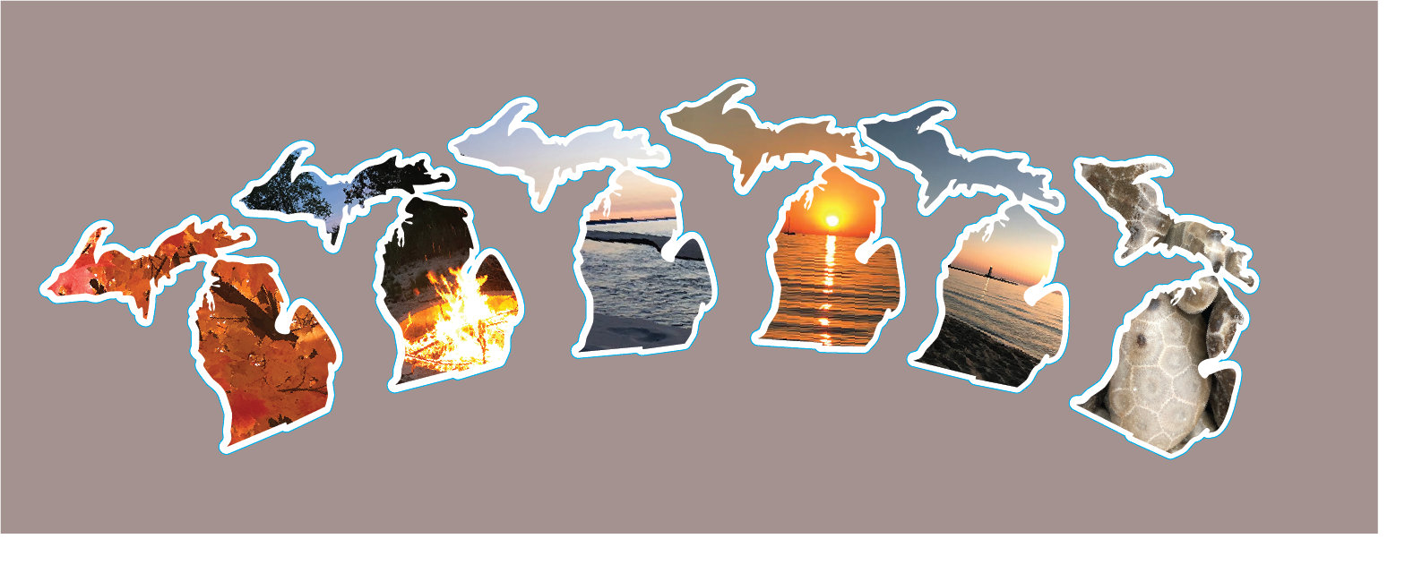 Photographic Michigan Stickers