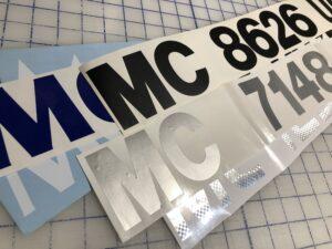Michigan MC Number Stickers